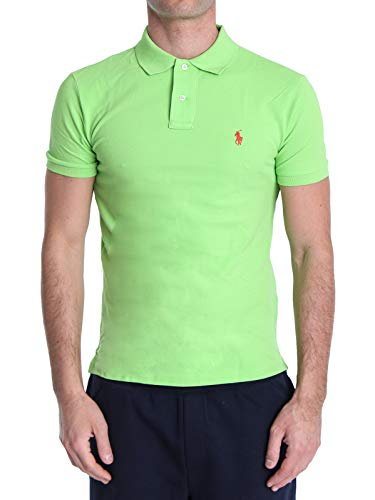 Photo of Polo Ralph Lauren Mod. 710795080 Polo Shirt Mesh Short Sleeves Slim Fit Man Green L