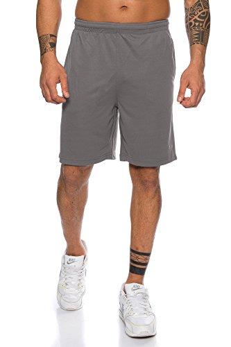 Raff & Taff Herren Shorts Bermuda Sportshorts Sporthose Funktionshose Traningshose schnell trocknend (Anthra, 3X-Large)