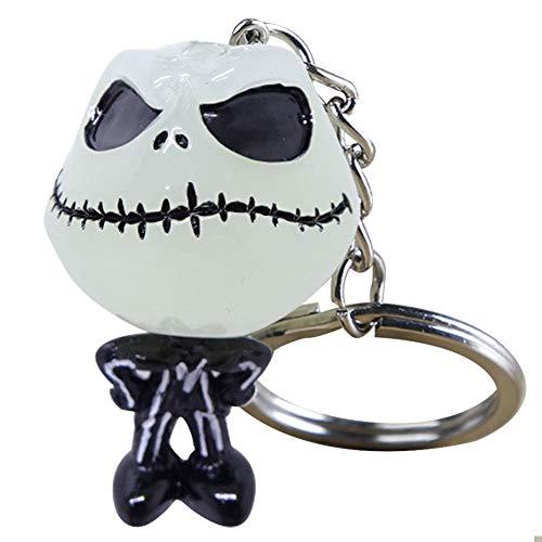Albtraum Vor Weihnachten Keychain Jack Skellington Schlüsselanhänger Schlüsselanhänger Mode-Geist Schlüsselanhänger Männer Frauen Halloween-Party-Kreative Geschenk