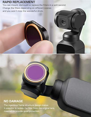 for DJI Osmo Pocket zubehör,MCUV/CPL/ND4//ND8/ND16/ND32/ND64 Smart Motion Kamera Camera Lens Filters Kameraobjektivfilter for DJI Osmo Pocket (MCUV)
