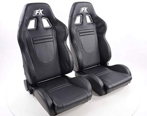 Paar Ergonomische prestaties FK sport stoelen half emmer stoelen Set Racecar met verwarming en massage