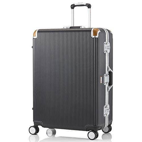 [スイスミリタリー] Premium プレミアム スーツケース Type C アルミフレームタイプ 天然皮革プロテクター TSAロック 軽量 傷防止 [SWISS MILITARY]/Sサイズ 20インチ 34L ブラック(SM-C620N/Deep Bl