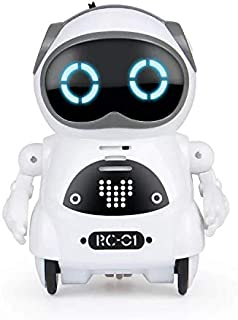 Ndream Pocket Robot for Kids, Educational Intelligent Mini Robot Toy, Voice Conversation, Speech Recognition, Dance and Change Voice and Repeat for Boys and Girls Gift (White)