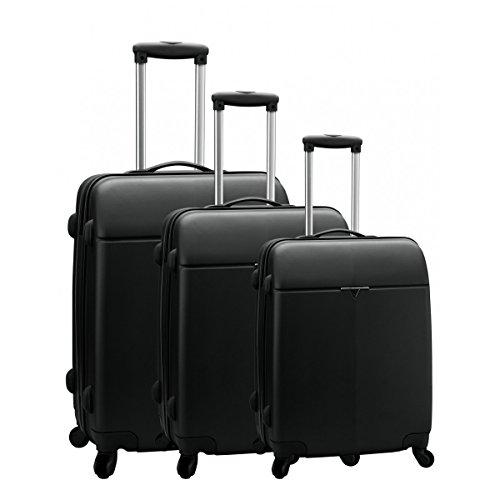 Set de 3 valises 4 roues carbon robust caroline bleu
