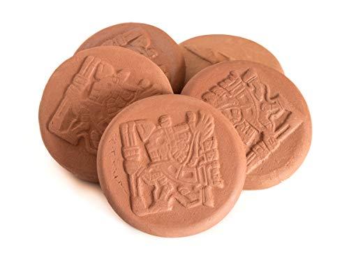 Simaru Tabakbefeuchter – Humidrole Pouch Button – Humidor befeuchter – Terakotta Stein– Terracotta Humidifying Stone gegen Austrocken von Tabak/Drehtabak – Immer frischer Tabak (5 Stück)