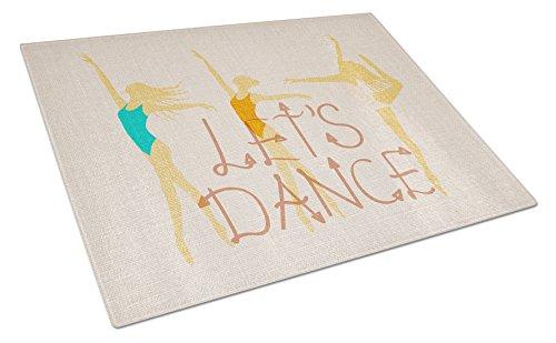 Carolines Treasures Let's Dance Linen Schneidebrett aus hellem Glas, groß, mehrfarbig