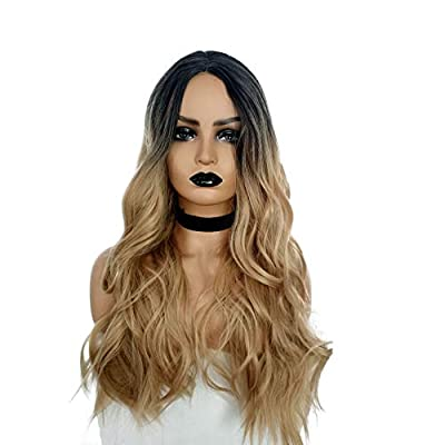 """23"""" Natural Full Wigs Hair Long Wavy Wig Synthetic Heat Resistant"""