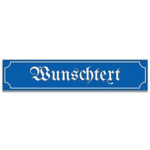 printplanet® - Straßenschild mit Text selbst gestalten - Kunststoff-Wegweiser mit Wunschnamen Personalisieren und Bedrucken - Größe 13 cm x 2,6 cm - Variante Nostalgie