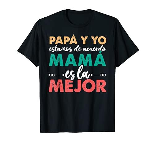 Día De La Madre Mejor Del Mundo Hija Hijo Mama Mujer Camiseta