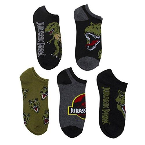 Jurassic Park Boys 5pk Dinosaur Printed Socks