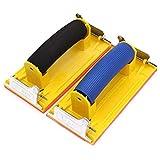 SNOWINSPRING 2個、サンドペーパーホルダー、ソフトハンドル付きツール、木材や石膏ボードの研磨用