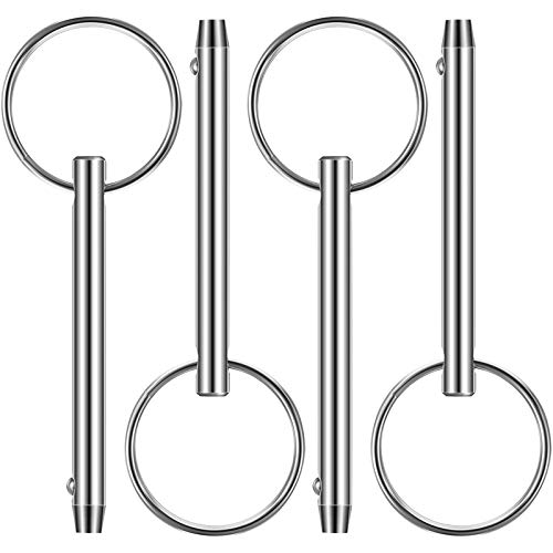 4 PCS Quick Bimini Top Pin, Diameter 1/4 Inch/ 6.3 mm, 316 Stainless Steel for Marine (Release Pin,Total Length 2 Inch/ 51 mm Effective Length 1.5 Inch/ 39 m)