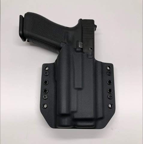 Black Kydex Holster Compatible with Glock 17 22 31 Olight PL-2 Valkyrie