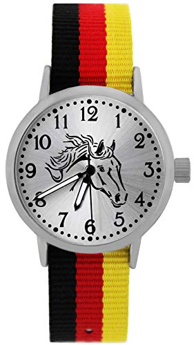 Pacific Time Mädchen Uhr analog Quarz mit Textilarmband 10400
