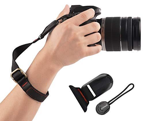 Kamera Handschlaufe Coolwill, Magnetischer Handschlaufe mit Schnellverschluss, Geeignet für Fujifilm, Nikon, Sony, Gopro usw. (Schwarz)