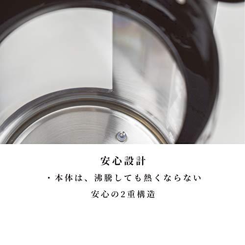 BODUM ボダム BISTRO ビストロ 電気ケトル 1.1L ダブルウォール (温度調節・保温機能付) ブラック 【正規品】 11659-01JP