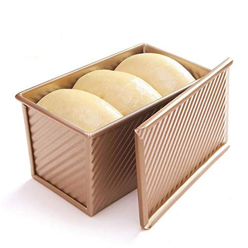 PEI Loaf Pan with Lid, Non-Stick Bread Pan Bakeware Durable Carbon Steel Bread Toast Mold with Cover Bread Pan for Baking Bread Pan Bread Tin for Homemade Cakes, Breads and Meatloaf