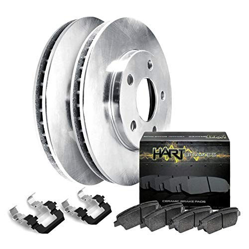Fits 1988-1989 Mazda 626, MX-6 Front Blank Brake Rotors Kit+Ceramic Brake Pads