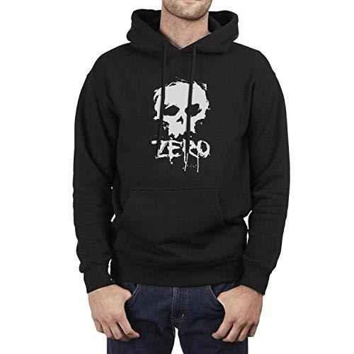 maichengxuan Herren-Kapuzenpullover, langärmelig, Fleece, mit Logo Gr. L, Zero Skateboards Logo