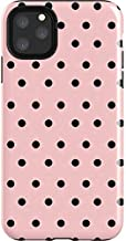 Skinit Impact Phone Case for iPhone 11 Pro Max - Officially Licensed Originally Designed Pink and Black Polka Dots Design