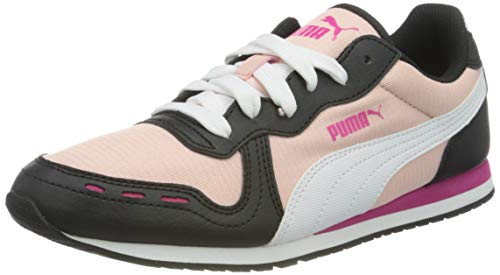 PUMA Cabana Run Print Wns, Zapatillas Mujer, Rosa (Peachskin White Black), 40.5 EU