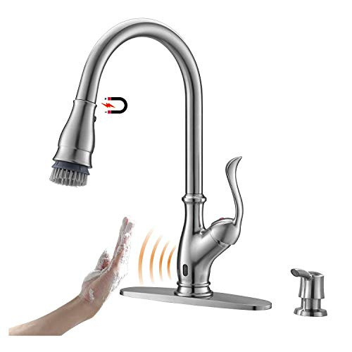 APPASO Touchless Kitchen Faucet with Pull Down Sprayer, Motion Sensing Activated Hands-Free Kitchen...