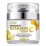Crema Facial de Vitamina C con ácido Hialurónico, Crema Facial Natural Antienvejecimiento y...