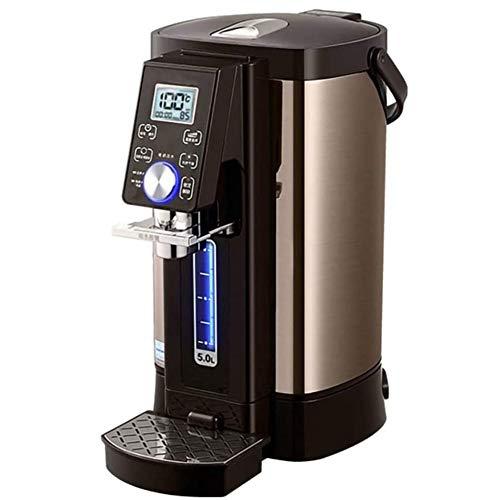 ZHIRCEKE Dispensador de Agua Caliente Botella de Agua Temperatura Constante Inteligente Inteligente Pantalla Digital de Alta definición 304 Hervidor de Acero Inoxidable Portátil-5L