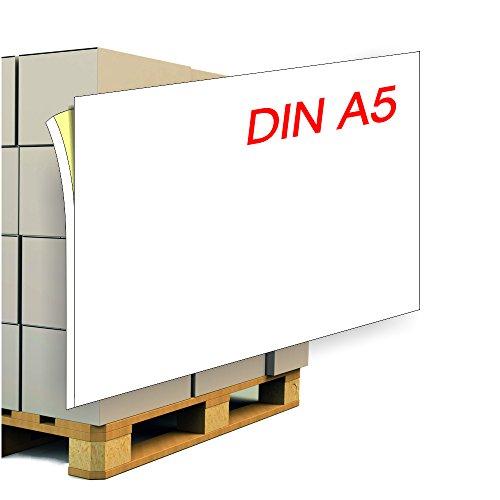 Paketaufkleber/Palettenaufkleber DIN A5 inkl. 5 mm Anfasslasche - 1000 Etiketten. Adressetikett/Versandaufkleber