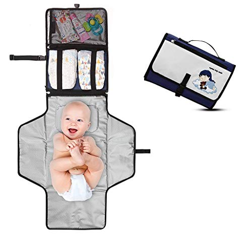 💧 SAFE and EXTREMELY PRACTICAL – Portable, high quality diaper change station comes with a detachable padded changing mat 21 inch long and 22 inch wide. It's wipeable, easy to clean, waterproof, and keeps your infant away from dirty surfaces. ☁️ LIGH...