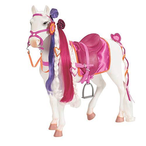 Our Generation 44287 - Camarillo Pferd Strähne, weiß/rosa