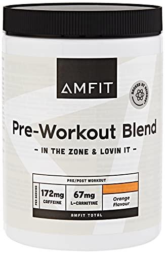 Amazon-Marke: Amfit Nutrition Vor dem Training, Orangengeschmack, 360g