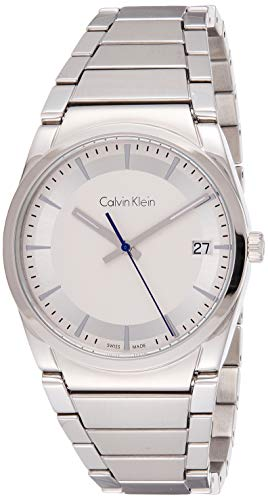 Calvin Klein Herren Analog Quarz Uhr mit Edelstahl Armband K6K31146