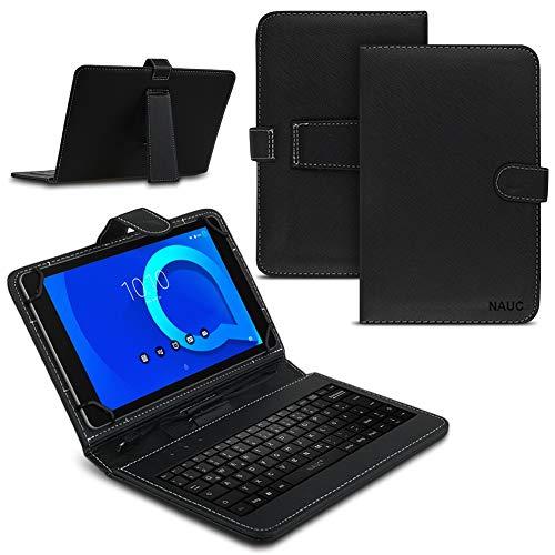 Tablet Hülle für Alcatel 3T 10 Tasche Tastatur Keyboard QWERTZ Schutzhülle Cover Standfunktion USB Schutz Hülle