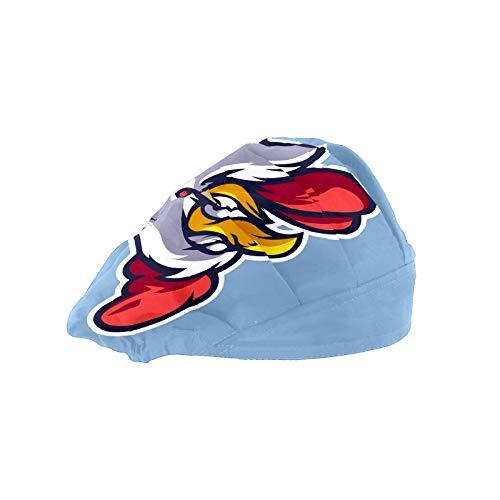 Frauen Kappe für lange Haare Arbeitshut mit Schweißband Elastische Verstellbare Arbeitskappen für Männer Arbeiten Kopftuch 3D Gedruckt Hüte Huhn Saugen Zigaretten Cartoon