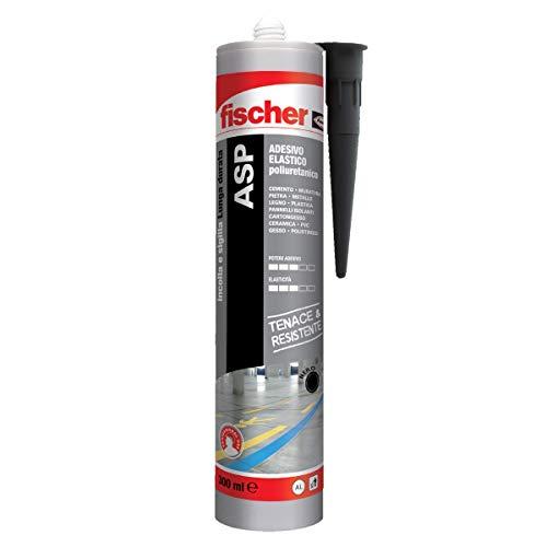 Fischer ASP Nero, Adesivo sigillante tenace e resistente per giunti a pavimento, in facciata, condotte, lamiera e carrozzeria. Cartuccia in alluminio da 290 ml, 544918