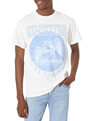 Led Zeppelin Men's US Tour 1975 White T-Shirt, Small