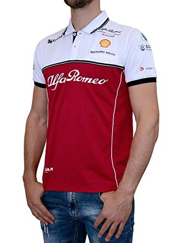 Alfa Romeo Racing Sauber Motorsport - Polo da uomo, Colore: rosso, M