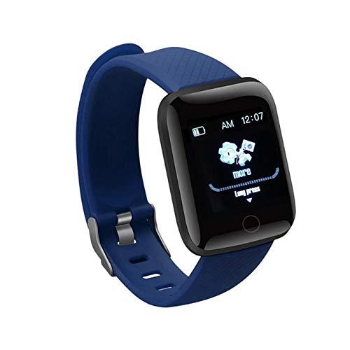 Smart Watch D20Pro Bluetooth Fitness Watch Pedómetro Life Impermeable Pulsera Tasa De Corazón Presión Arterial Banda Inteligente (Color : Blue)