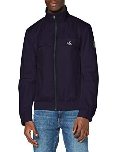 Calvin Klein Zip Up Harrington Chaqueta, Blue, S para Hombre