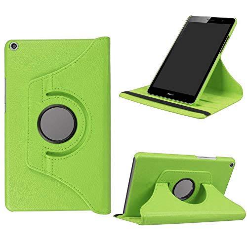 Caja de la Cubierta de rotación 360 para Huawei MediApad M5 Lite 8,0 DG2-W09 / AL00 Funda Plegable para Huawei Honor T5 8 Tablet Funda-Verde