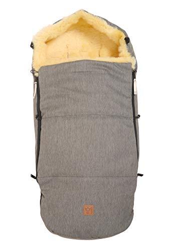 Kaiser 6514290 Premium Lammfell Fußsack für Joolz, denim grey, grau