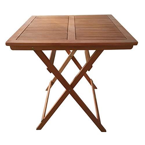 Sedexx Linus Klapptisch 70x70 Gartentisch Tisch Balkontisch Holztisch Terrasse Natur