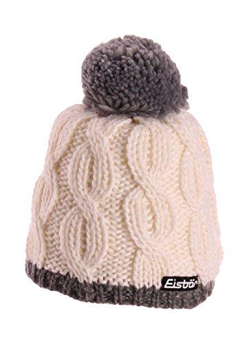 Eisbär Damen Mütze Kiana Pompon, Graumele/Milk, One Size, 407519