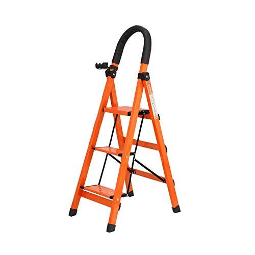 Stile Semplice Folding Extension Ladder - Homewares Pieghevole Passo Sgabello Ladder For Adulti Alluminio Pieghevole 3 Battistrada Stepstool Antiscivolo Mat E Serrature Di Sicurezza Sgabello Ristruttu
