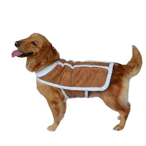 SYC hondenkleding, grote hond, mantel voor honden, suède, faux kaki, 28, Een