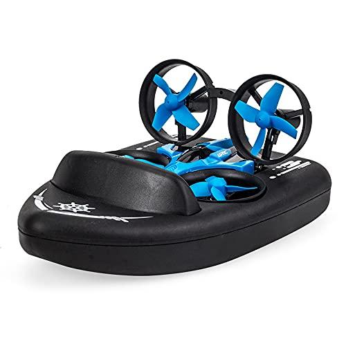 YUMOYA Telecomando Tre In Uno Drone Giocattolo Quadcopter Telecomando Barca Mini RC Drone Per Principianti Adulti, Indoor Outdoor Quadcopter Aereo Per Ragazzi Ragazze Natale Bambino Regalo