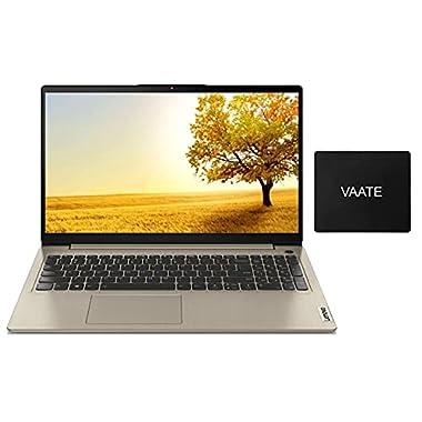 2021 Lenovo IdeaPad 3 15 Laptop, AMD Ryzen 5 5500U(Beat i7-10710U) 12GB RAM 256GB SSD, 15.6″ FHD Display, Backlit Keyboard, FP Reader, Webcam, Lightweight, Win 10-Free Windows 11 Upgrade, VAATE Kit