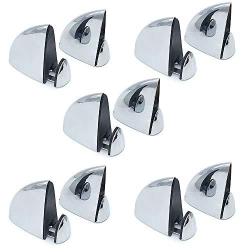 NUZAMAS - Juego de 10 abrazaderas de cristal, soporte para estante de madera y cristal, soporte para madera, clip en forma de boca de pez,ajustable de 3 a 18 mm de grosor