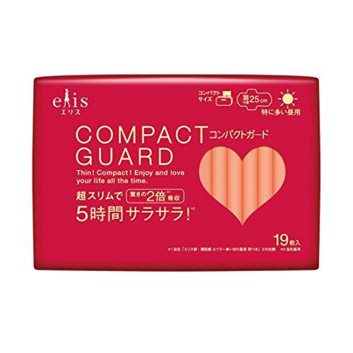 ELIS COMPACT GUARD Sanitary Napkin Especially Heavy Day W/Wing 19P